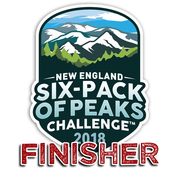 2018 New England Six-Pack of Peaks Finisher