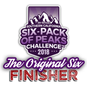 Original Six-Pack of Peaks Finisher Badge