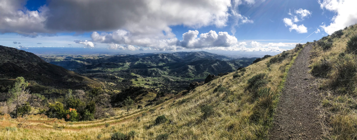 On the way up Mount Diablo