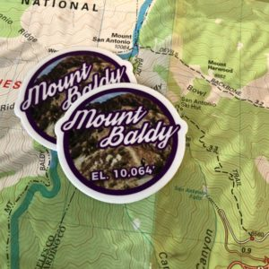 Mount Baldy Sticker