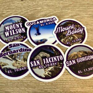 Original SoCal Six-Pack of Peaks Sticker Set