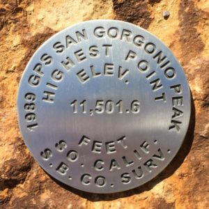 San Gorgonio Benchmark - rock back