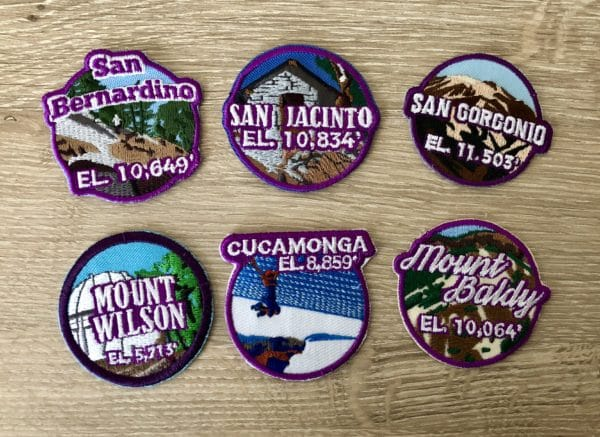 SoCal Six-Pack of Peaks Patch Set