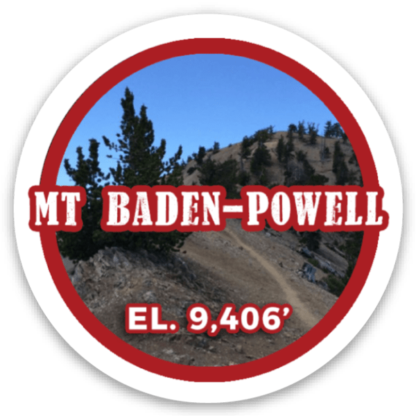 Mount Baden-Powell sticker