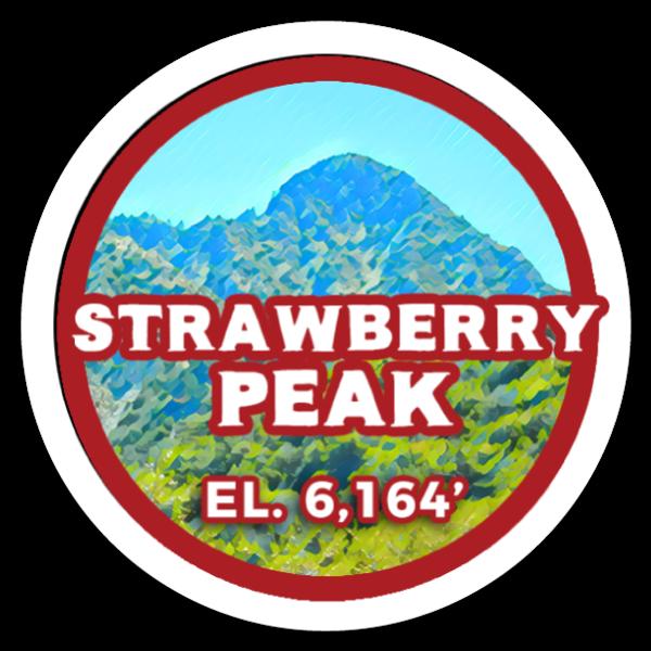 Strawberry Peak sticker