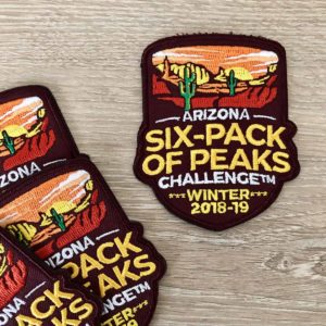 Arizona Winter Six-Pack of Peaks Patch