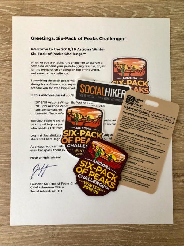 Arizona Winter Six-Pack of Peaks Welcome Packet