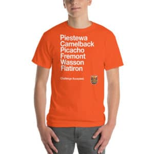 Arizona Six-Pack of Peaks Challenge T-Shirt