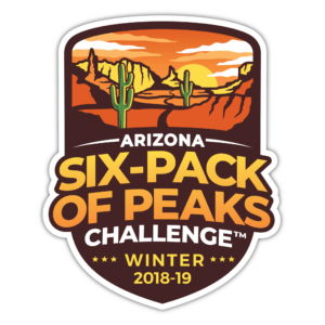 2018/19 Arizona Winter Six-Pack of Peaks Challenge logo