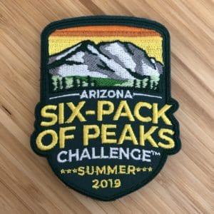 2019 Arizona Summer Six-Pack of Peaks Challenge Patch