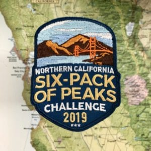 2019 NorCal Six-Pack of Peaks Challenge patch