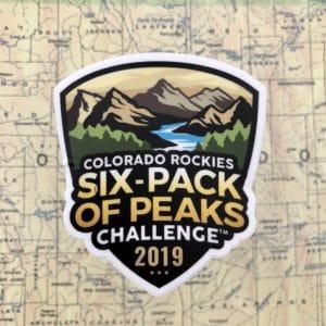 2019 Colorado Rockies Six-Pack of Peaks Challenge Sticker