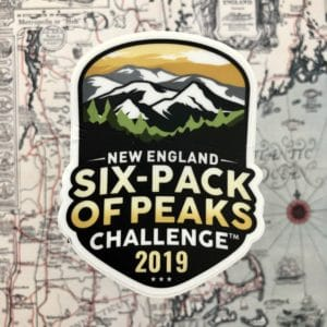 2019 New England Six-Pack of Peaks Challenge Sticker