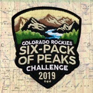 2019 Colorado Rockies Six-Pack of Peaks Challenge Patch