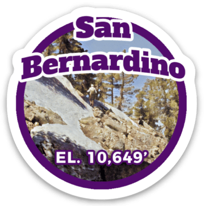 San Bernardino Peak Sticker