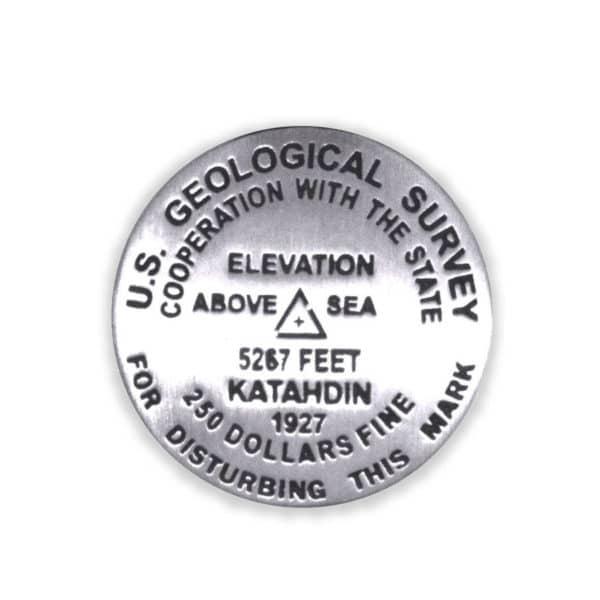 Mount Katahdin benchmark pin