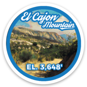 El Cajon Mountain sticker