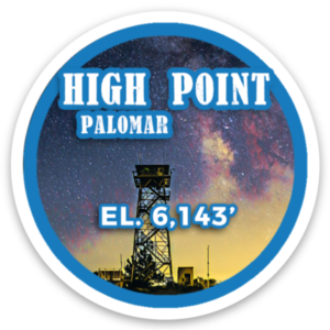 High Point (Palomar) sticker