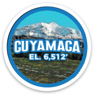 Cuyamaca Peak sticker