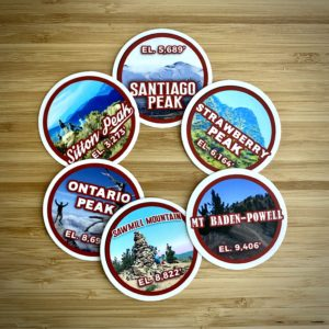 Alternate Six Six-Pack of Peaks Sticker Pack