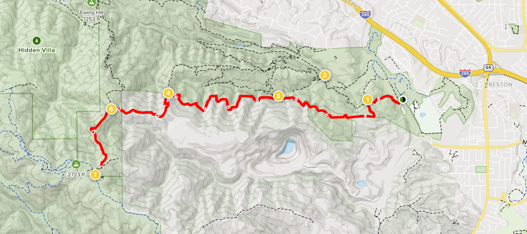 Black Mountain topo map