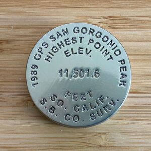San Gorgonio Benchmark Challenge Coin